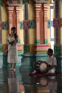 Das Mantren Universum im Hindutempel Chinatowns von Kuala Lumpur